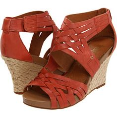 So, I go on Zappos to buy low heel black shoes and I end up with orange wedges! :-)