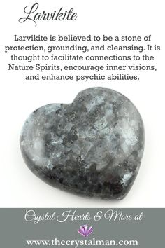 Larvikite ~ Protection-Grounding-Cleansing-Nature Spirits-Inner Visions-Psychic Abilities You can shop thousands of crystals online any time at The Crystal Man!
