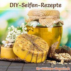 Seife herstellen - Honigseife mit Peeling-Effekt selbst herstellen