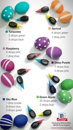 Follow this helpful Easter Egg Color Guide to dye the most vibrant eggs in the basket.