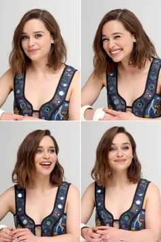 Emilia Clarke - being adorable at a Terminator Genisys press conf