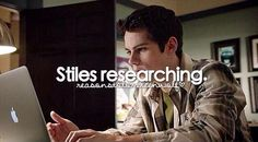 Reasons to love Teen Wolf stiles researching