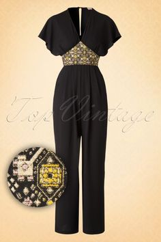Traffic People  Jumpsuit in Black with Gold Details 133 10 15611 20150818 0003W3