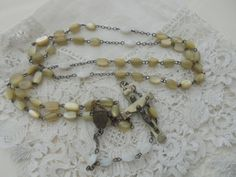Old rosary destash by Nkempantiques on Etsy