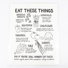 You'll always remember to eat your veggies with this poster hanging in your kitchen  www.mooreaseal.com