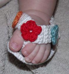 Tutorial crochet baby sandals