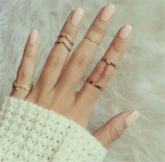 6pcs Gold Plated Stacking Midi Finger Knuckle Rings