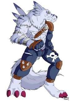 Weregarurumon from Digimon