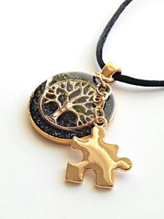 Resin tree of life autism jewelry. #Autism awareness #mom teacher #diy  A must see all jewelry made by autism mom. https://www.etsy.com/listing/229623509/autism-tree-of-life-necklace-autism