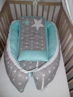 hnízdečko pro miminko 100% bavlna vyplněno PES-kuličky duté vlákno prát na 30°C rozměr: cca 70x100cm