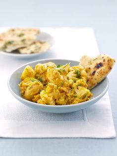 This quick vegetarian curry, made with cauliflower and new potatoes, will taste much better than your local takeaway's version.