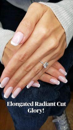 Dream Engagement Rings, Engagement Ring Styles, Wedding Engagement, Nancy Nails, Toe Ring Designs, Parisian Wedding, Dream Wedding, Wedding Day, Radiant Cut Diamond
