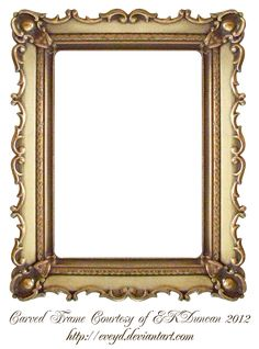 Carved Gold Frame by EKDuncan by EveyD.deviantart.com on @DeviantArt