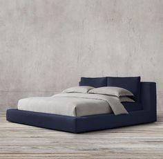 Cloud Platform Slipcovered Bed