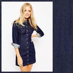 #denim #denimdress #dress #women #ootd #fashion #mode #moda #trend #style…