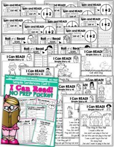 I Can Read Simple Sentences NO PREP (Set 1) allows beginning or struggling readers to build confidence and reinforce fun into reading basic sentences!