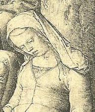 "Detail from ""Flight to Egypt"", Lucas van Leyden 1508"