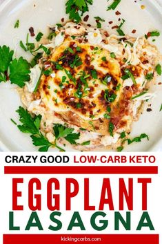 Anytime I can satisfy my cravings for lasagna in a way that doesn't involve a lot of carbs I am ecstatic. Low Carb Keto Eggplant Lasagna is one of my go-to dinners. I prepare the Meat sauce as part of my weekly meal prep, which makes this keto dish an easy weeknight meal. #kickingcarbs #lowcarbrecipe #ketodinner #keto #eggplant Gluten Free Recipes For Breakfast, Low Carb Dinner Recipes, Lunch Recipes, Healthy Recipes, Keto Recipes, Keto Dinner, Cream Recipes, Bariatric Recipes, Vegetarian Recipes