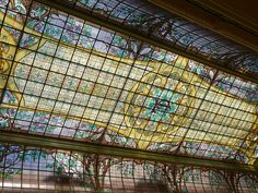 Banque du Crédit Lyonnais - stained glass ceiling by Jacques Gruber