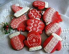 Czerwone, Christmas cookie set by Teresa Pękul