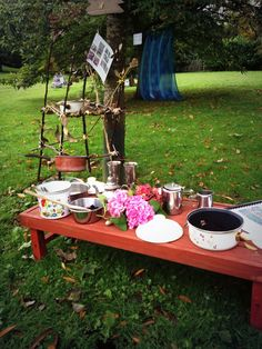 Mud kitchen ~ early years training outdoor play