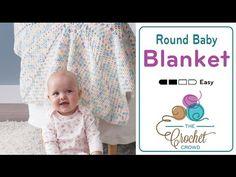 Crochet Round Baby Blanket + Tutorial - The Crochet Crowd