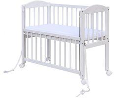 Scarlett Dětská postýlka Baby - k posteli rodičů, bílá