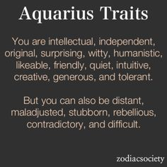 I couldn't believe how ME this description was until I realized I had misread Aquarius Traits — I'm Aries!