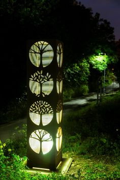 Glade - Modern outdoor steel Sculpture by Pete Moorhouse. Bollard Lighting, Outdoor Lighting, Wall Sculptures, Sculpture Art, Garden Sculptures, Jardin Decor, Steel Sculpture, Outdoor Sculpture, Landscape Lighting