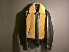 Original Grizzly Jacket / Type 1930's J.C Pennys(Col.Black x Beige) - WARP AND WOOF
