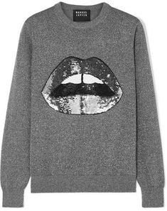 1e0dfc387097 Markus Lupfer - Mia Sequined Lurex And Cotton-blend Sweater - Silver