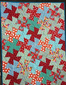 nifty quilts: Simple and Sweet Scrappy Quilts, Baby Quilts, Quilting Projects, Sewing Projects, Sewing Ideas, Twister Quilts, Tumbler Quilt, February Baby, Plus Quilt