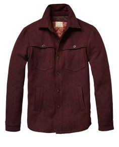 Inbetween Shirt Jacket In Wool Quality  - Scotch & Soda
