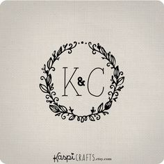 INVITATION INSPIRATION - CUSTOM RETURN ADDRESS LABEL  Leafy wreath custom monogram wedding monogram by KaspiCrafts, $8.00