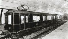 Primeros trenes del Metro de Barcelona en 1924