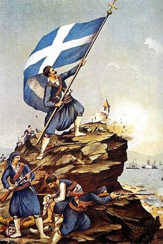 Greek Independence Day, national holiday celebrated annually in Greece on March… Greek Flag, Go Greek, Greek Life, Patras, Battle Of Crete, Greek Independence, Greece History, Haiti History, Greek Warrior