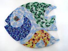 Imagen relacionada Mosaic Animals, Mosaic Birds, Mosaic Bathroom, Mosaic Wall, Mosaic Designs, Mosaic Patterns, Mosaic Ideas, Beach Crafts, Diy And Crafts