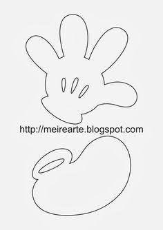 Resultado de imagem para molde maozinha mickey