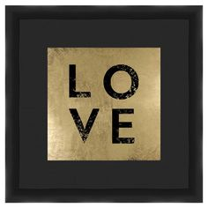 Perfect as a delightful focal point or in an eye-catching vignette, this framed giclee print showcases a chic typographic motif and metallic accent.  ....