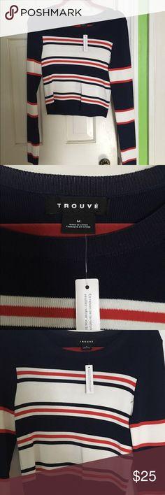 Nautical striped long sleeve blouse Nautical tripped long sleeve blouse. NWT, purchased from Nordstrom Trouve Tops Tees - Long Sleeve