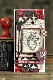 kartka   z okazji 18-tych urodzin   papiery UHK Gallery  z kolekcji Holmes in love   cyfry  z Wycinanki