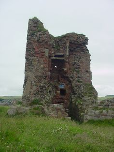 Ardrossan Castle Scotland is said to be haunted by the ghost of William Wallace, who is said to wander the ruins on stormy nights.