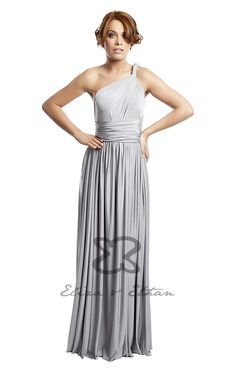 Eliza and Ethan - Multiway - Infinity - Bridesmaids Dresses - OneSize - Maxi MultiWrap Dress Color: Platinum