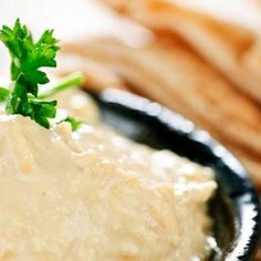 Hummus Snack Pancakes with Tahini Dressing  Dressing: Whisk together 1 cup mayonnaise, 1 1/2 TBSP lemon juice, 1 TBSP tahini, 1/4 tsp cumin powder and a little salt.