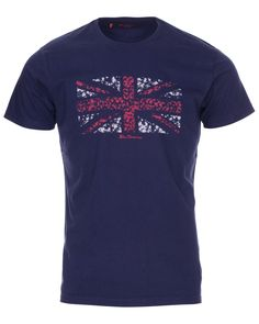 Ben Sherman Union flag motif t-shirt from Blue Inc - now just T Shirt Vest, Ben Sherman, Great British, Mens Fashion, Fashion Outfits, Mens Clothing Styles, New Baby Products, Flag, Mens Tops
