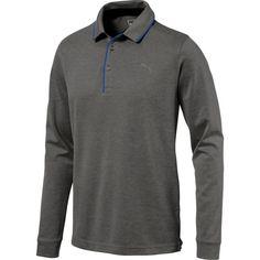 Puma Men's Tailored Long Sleeve Golf Polo, Size: Medium, Black