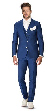 p1515-b 3-delig donkerblauw kostuum