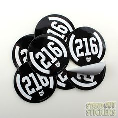 Circle Custom Vinyl Stickers for CLE Clothing Co.