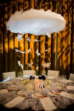 Floating Clouds Over Your Reception Table?  Brought To You By http://www.agardenofdreams.com