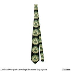 Cool and Unique Camouflage Illuminati Tie. #illuminati #camouflage #ties #forhim